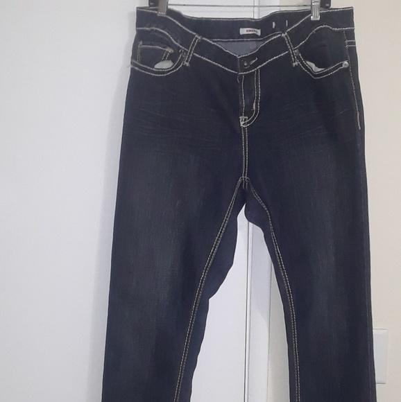 0763edd12da BONGO Denim - Women s BONGO PLUS Stretch Dark Blue Jeans 20W